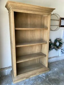 Restoration Hardware Solid Wood Weathered Oak Drifted French Casement Bookcase