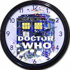 """Doctor Who Whovian Tardis Wall Clock Police Time Travel London UK Britain 10"""""""