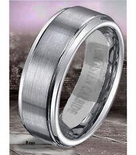 VPKJewelry 6-8mm Tungsten Carbide Brushed Men/Women Wedding Ring Sizes 5-14,5