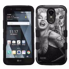For LG Stylo 3 LS777 Hard Impact Armor Hybrid Case Marilyn Monroe #Skull