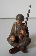 ELASTOLIN LINEOL US american soldier sitting waiting with rifle