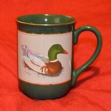 OTAGIRI ~ Mallard Duck ~ Coffee Cup Mug ~ Made In Japan ~ Gibson Greetings Green