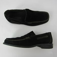 Bostonian Mens Size 9 US Casual Loafers Suede Leather Shoes Black Made in Italy