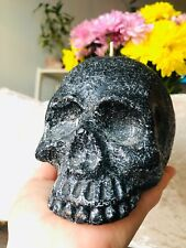 "Wax Candle Skull Shape in Black, 5.5"" x 4"" x 4"", $20"