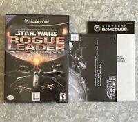 Star Wars Rogue Leader Squadron 2 Nintendo Gamecube *No Manual* EXCELLENT Disc!