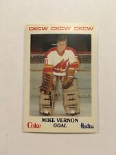 Mike VERNON Moncton Golden Flames Pre Rookie Card 1984-85 AHL Defunct Team L@@K