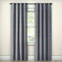 "Eclipse Rowland Blackout Window Curtain Panel, Light Gray 52"" X 95"""