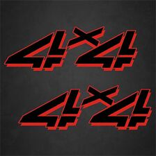 """2 - 5""""x15"""" 4x4 Truck Replacement Quality Vinyl Decals Graphics Black Red"""
