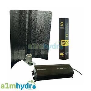 Omega Black 600w Digital Grow Light Kit HPS Ballast Bulb and Shade Hydroponics