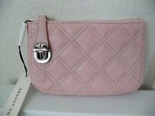 AUTH Marc Jacobs Quilted Bond Key Coin Pouch Wallet in Light Pink NWT
