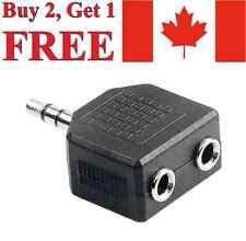 3.5mm to Double Earphone Headphone Y Audio Splitter Adapter Jack Plug