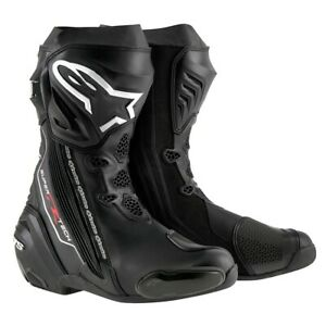 Alpinestars Supertech R Motorcycle Racing Boots Black Flexible Sport Boots