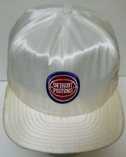 NEW Vtg 1980s DETROIT PISTONS NBA BASKETBALL NYLON SNAPBACK HAT CAP BAD BOYS ERA