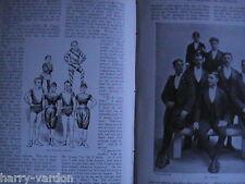Sark Jethou Herm Island Acrobat Family Marvellous Craggs Old Photo Articles 1898