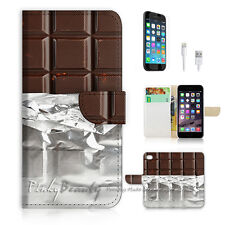 ( For iPhone 7 ) Wallet Case Cover P0734 Chocolate