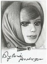 Thunderbirds 50 Years Sketch Card by Andy Fry signed by Sylvia Anderson [ B ]