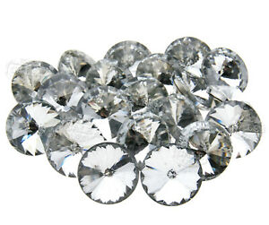 20 x 25 mm Crystal Diamante Round Buttons Tufting Sofa Upholstery Headboard