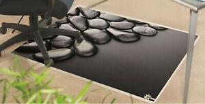 Bodenschutzmatte Bürostuhlunterlage 120 x 100 cm Antirutsch Motiv Steine