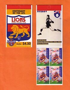 1996 Centenary of AFL Fitzroy Lions 10 x 45c booklet MNH