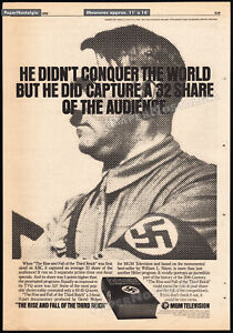 RISE AND FALL OF THE THIRD REICH__Orig. 1976 Trade AD / poster__DAVID L. WOLPER