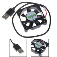 1Pc 5V USB Connector 50x50x10mm PC Computer Cooling Cooler Fan Heatsink  JzJ Gw
