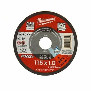 MILWAUKEE SCS 41/115 Qty.10 THIN 1mm METAL CUTTING DISC PRO+ - 4932451484