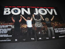 Bon Jovi Hit The Gas.There Ain't No Brakes 2007 Two Piece Promo Poster Ad