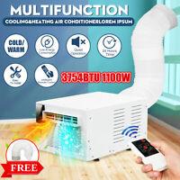 1100W Klimaanlage Heizgeräte Kühlung Heizung Luftkühler Klimageräte +Auspuffrohr