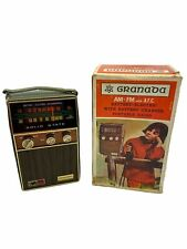 Vintage Solid State Granada AM/FM with AFC Battery Electric Portable Radio READ