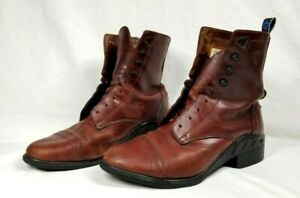 Vintage Leather Womens Ariat Work Boots Size 10B Burgundy Style 56661