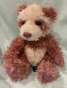 "Russ Teddy Bear ""Suki"" Shaggy Dark & Light Pinks, Very Cute!"