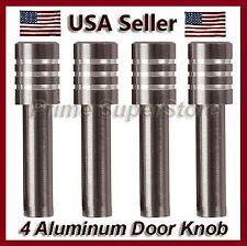 New Set Metal Billet Door Lock Knobs Auto/Car/Truck/SUV/RV Charcoal Finish 4