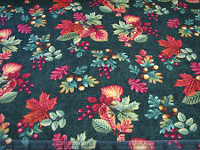 3  Yards Quilt Cotton Fabric - Henry Glass Autumn Festival Leaves Acrons Green