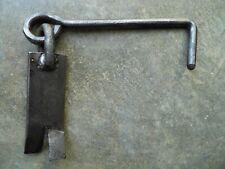 Ancien crochet 19,2cm fer pour porte volet grille,ferrure serrure penture