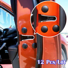 12Pc Car Accessories Door Lock Screw Protection Protector Cover Cap Trim Sticker