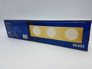 "Westinghouse 66405 3 Light Lamp Bar Polished Brass Bathroom Fixture 18""x4.5"" NOS"
