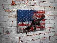 12″ x 18″ Gun American Flag Canvas Print Wall Art – Home Decor