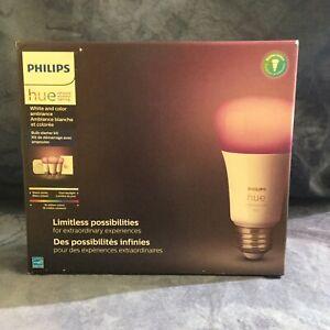 Philips Hue White/Color LED Smart Button Starter Kit 3 A19 Smart Bulbs FREE SHIP