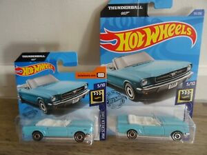 Hot Wheels 65 Ford Mustang Convertible - James Bond Thunderball 007 (2 in total)