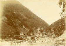 Suisse, Alpes bernoises, Vallée, ca.1900, vintage citrate print Vintage citrate