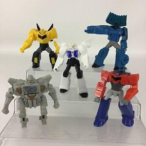 "Transformers McDonalds 2016 5pc Figure Lot 5"" Megatron Optimus Bumblebee Strong"
