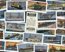 "BOOTH TEA 1971 SET OF 25 ""SHIPS AND THEIR WORKINGS"" TEA CARDS CAT £35+"