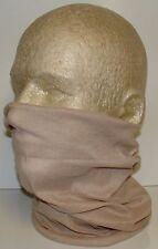 Khaki Tan Beige Beanie Biker Durag Face Mask Beanie Skull Cap Function Scarf