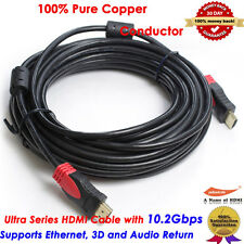 25FT Premium HDMI Cable V1.4 with Ferrites Core For BLURAY 3D DVD XBOX HDTV LCD