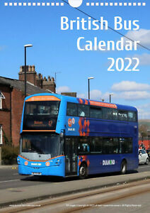 British Bus Calendar 2022, transport enthusiast gift