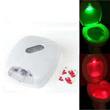 Bathroom Toilet Seat Bowl Glow LED Night Light Motion-Activated PIR Light Sensor