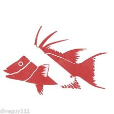 Scuba Diving Bumper Sticker Dive Flag Decal - Hogfish - AUB201