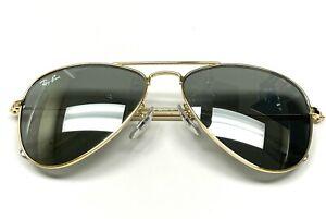 Ray-Ban RJ 9506S 223/71 Junior Aviator Sunglasses Gold Little Kids Size Display