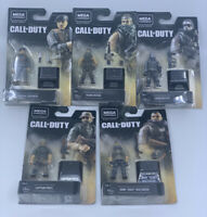 NEW Mega Construx Call of Duty Black Series Mini Figure COMPLETE Set / Lot of 5