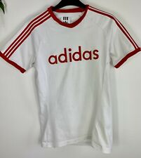 ADIDAS ORIGINALS ARCHIVE RETRO FELT RED WHITE SHORT SLEEVE T-SHIRT SIZE S TEE